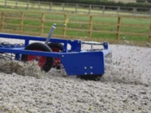 Towable leveller maintaining equestrian arena surface